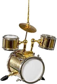 Kurt Adler Brass Musical Drum Christmas Ornament