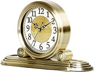 Clock Clock, Carriage Clock, European Vintage Retro Ornaments Porch Mute Quartz, Lämplig för vardagsrum Studiokökur