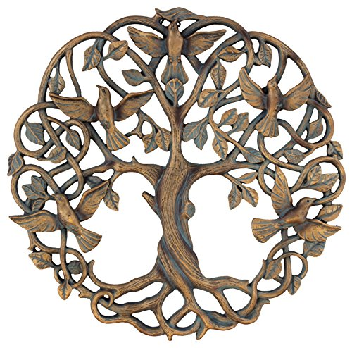 Old River Outdoors Tree of Life/Birds of Peace Wall Plaque 11 5/8' Decorative Celtic Dove Garden Art Sculpture