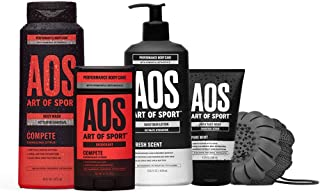 Art of Sport Compete Bestsellers Kit, 5pc Men's Daily Essential Body Care Gift Set with Aluminum-Free Deodo...
