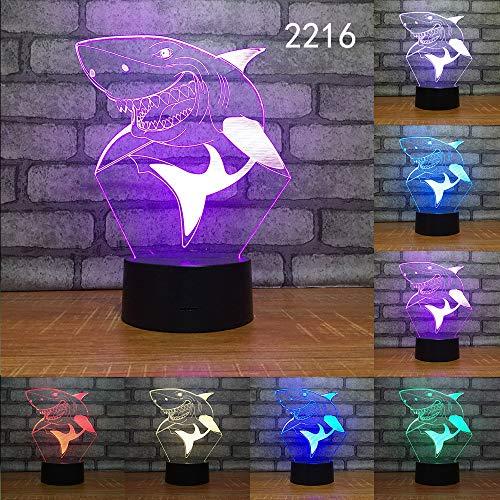 Farbwechsel Schlafzimmer 3D führte große Fische um Licht Schmetterling Usb Nachtlicht Dekor für Angeln Enthusiasten Geschenke Tischlampe zu fangen