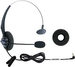 DailyHeadset 2.5mm Jack Hands Free Headset Over Ear Headphones for Cordless Home Phones Corded Landline Telephones