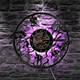 KEC Reloj de Pared con diseño de pez Dorado, decoración mínima para el hogar, diseño Moderno, Reloj de Pared con Registro de Vinilo, Reloj de Pared Decorativo para guardería, Acuario