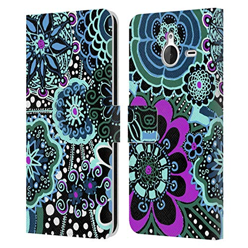Official Joan of Art Floral Spring Patterns & Prints Leather Book Wallet Case Cover Compatible For Microsoft Lumia 640 XL/Dual