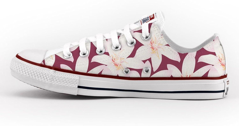 Converse All Star Personnalisé et Imprimés - Chaussures à la Main - Produit Italien - Hawaii FFaibleers