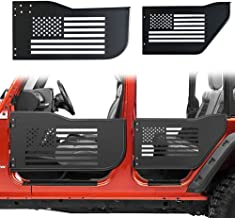 Bolaxin Front & Rear Half Tube Door for 2007~2018 Jeep Wrangler JK Unlimited 4 Doors USA Flag Logo Tubular Door