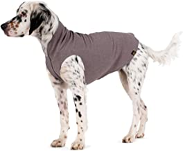 Gold Paw Stretch Fleece Dog Coat – Soft, Warm Dog Clothes, Stretchy Pet Sweater – Machine Washable, Eco Friendly – All Season – Sizes 2-33, Charcoal, Size 14