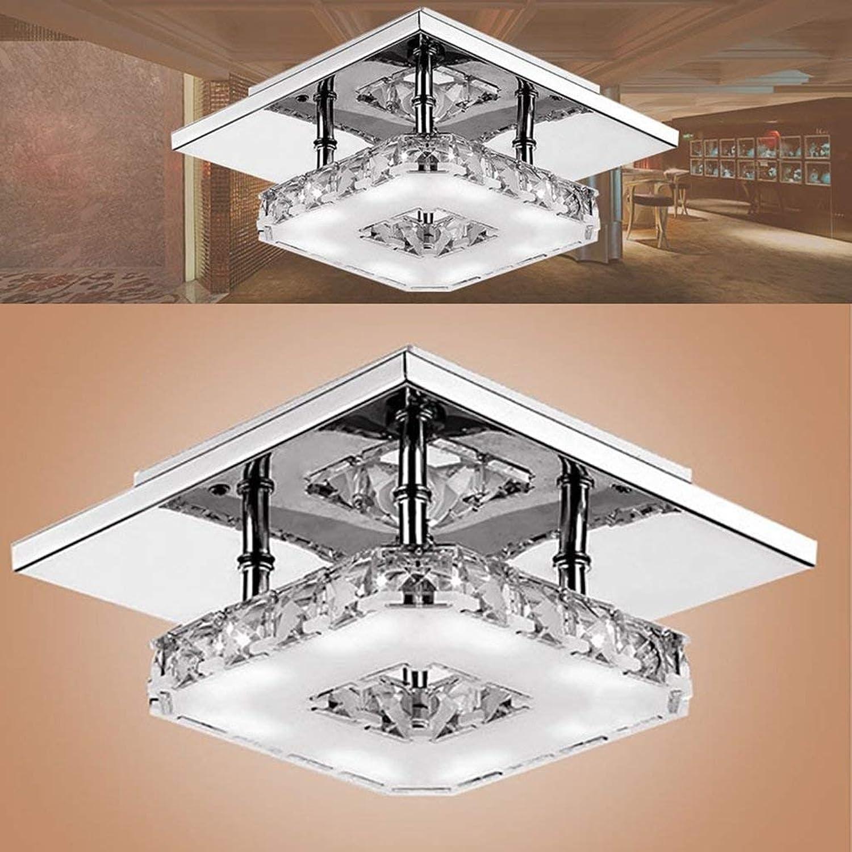 Leohome Deckenbeleuchtung Kristall Deckenleuchten Innenbeleuchtung LED Moderne Tischlampe Licht Led Deckenleuchten für Wohnzimmer Esszimmer Dekoration Lampen von zu Hause aus - Innenbeleuchtung, Wei