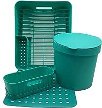Kit Cozinha (escorredor + Organizador + Lixeira + Grade)