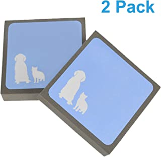 YipinNuo Pet Hair Remover, Effectively Pet Hair Cleaning Brush for Dogs & Cats, Upgraded Hair Cleaner for Furniture Carpets Car Seats Bedding Couch Sofa Mat (2 Pack)