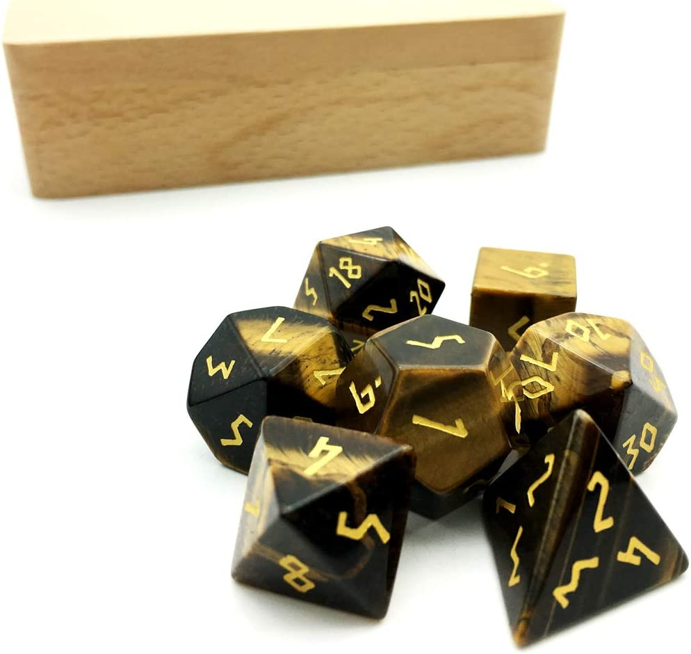 Cheap sale Amatolo Stone DND Dice Very popular! Set of 7 Handmade DD Jade RPG Colle Game