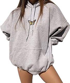 Sudadera con Capucha de Manga Larga con Estampado de Mariposas para Mujer Camisetas con Capucha de Moda para IR de Compras...