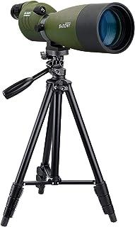 SVBONY SV17フィールドスコープ スポッティングスコープ 直視型 大口径 防水 バードウォッチング アーチェリー 射撃 日本語マニュアル (25倍-75倍 70mm) (四段三脚付き)