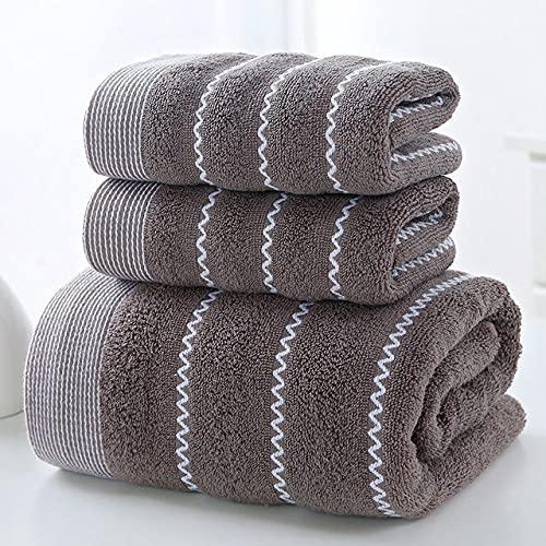 IAMZHL Toalla de algodón Juego de Toallas de baño Toalla de baño 140x70cm Toalla 35x75cm Juego de Tres Piezas Absorbente Suave-a14-one Size