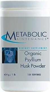 Metabolic Maintenance Organic Psyllium Husk Powder - Soluble Fiber Supplement - Digestion, Gut, Detox + Regularity Support...