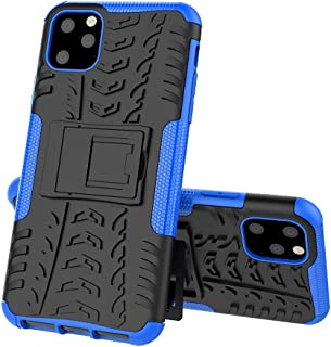 iPhone 11 Pro Max Case, ZERMU Shockproof Protection Ultra Thin Durable Hard Plastic Case with Kickstand Armor Defender High Impact Rugged Bumper Anti-Scratch Case for iPhone 11 Pro Max 6.5