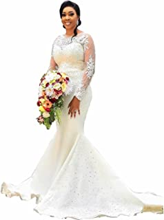 79f4cb0a1020b Amazon.com: Long Sleeve - High Neck / Wedding Dresses / Dresses ...