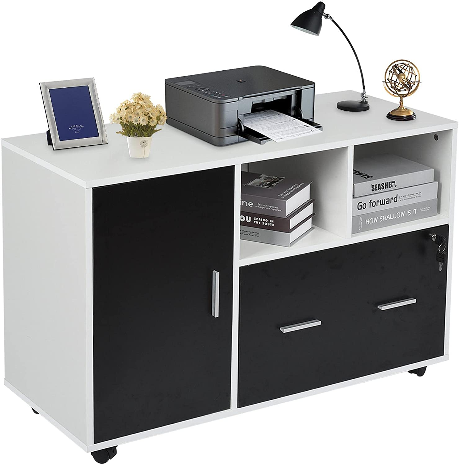 Wood File Cabinet with Discount New arrival is also underway Lock and Ca Lateral Mobile Filing Drawer