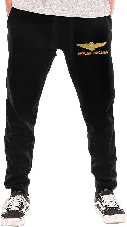 HUDIDEAR USMC Marine Aircrew Mens Fit Joggers Jersey Sweatpants for Gym Training