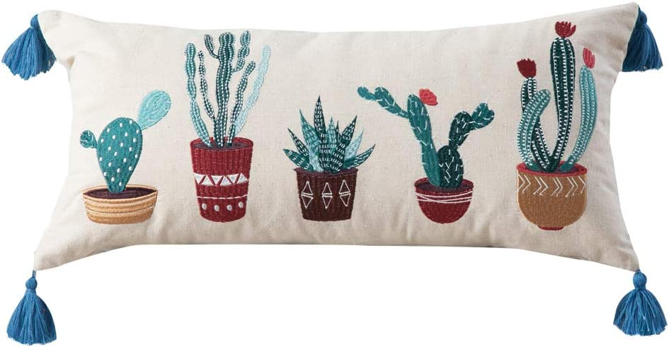 Rod's Embroidered Superior Cacti Pillow Linen New product!! on