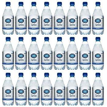 CRYSTAL GEYSER SINCE 1977 Unflavored Sparkling Spring Water PET Plastic Bottles BPA Free No Artificial Ingredients or Sweeteners 18 Fl Oz 24 Pack