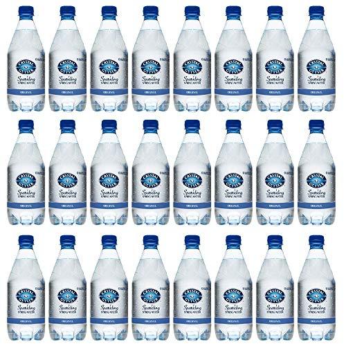 CRYSTAL GEYSER SINCE 1977 Unflavored Sparkling Spring Water PET Plastic Bottles, BPA Free, No Artificial Ingredients or Sweeteners, 18 Fl Oz, 24 Pack