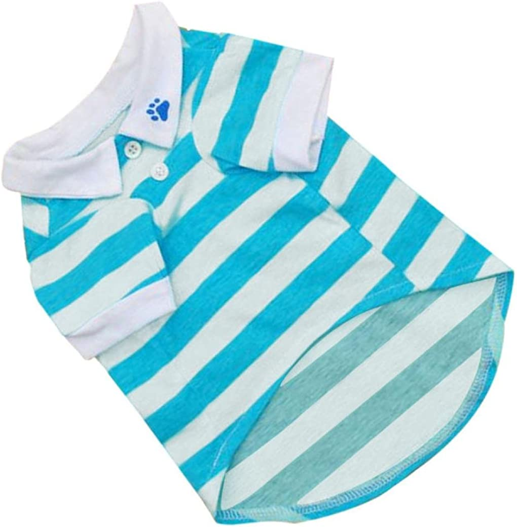 Pet Dog Inexpensive New product!! T-Shirt Clothes Lapel Puppy Apparel Summer Stripe