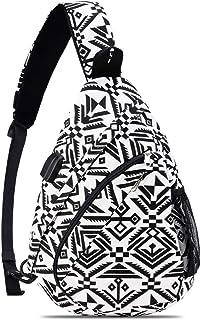 HOLYBIRD Sling Backpack, Multipurpose chest Crossbody Shoulder Bag Travel Hiking Daypack for men women with YKK metal zipper