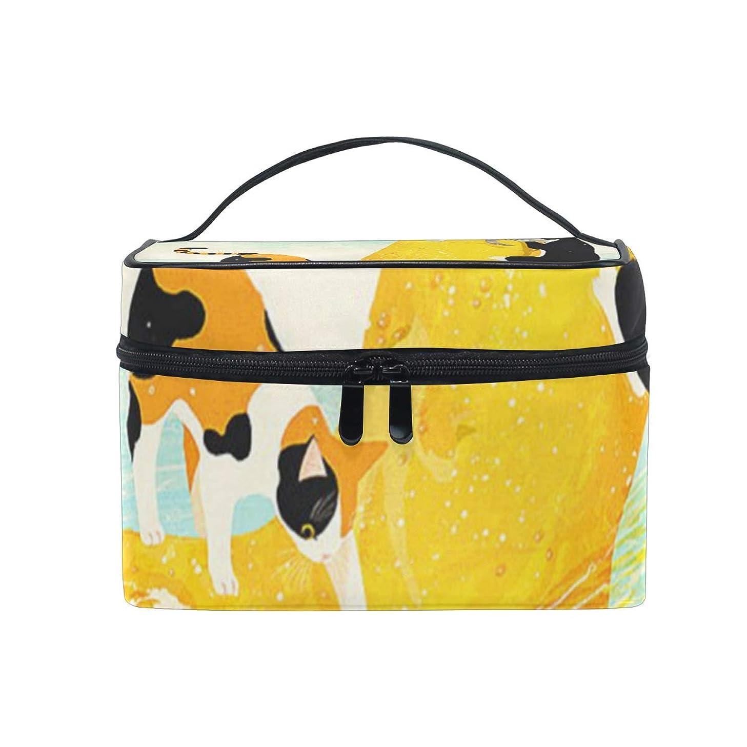 一人で思い出させる手荷物メイクポーチ 猫 ビールの靴 化粧ポーチ 化粧箱 バニティポーチ コスメポーチ 化粧品 収納 雑貨 小物入れ 女性 超軽量 機能的 大容量