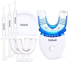 Teeth Whitening Kit Dental Teeth Whitener Removes Stains Effectively, Non Sensitive Safe for Enamel, Led Light with 5 Bulbs, 3×3ml Gel Syringes