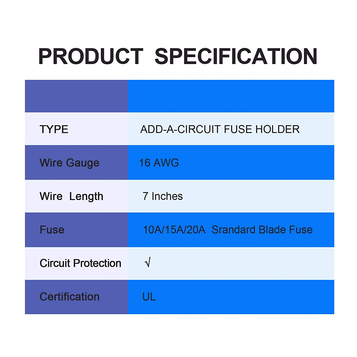 FABOOD F 10 Pack 12V Car Add-A-Circuit Fuse Tap Adapter Piggy Back Micro II Micro 2 APT ATR Blade Fuse Holder with 10A 15A 20A Blade Fuse for Cars Trucks Boats