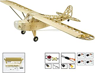 GoolRC S2304 Balsa Wood RC Airplane, 1200mm Electric Powered J3 CUB Unassembled RC Aircraft, PNP Version DIY Flying Model