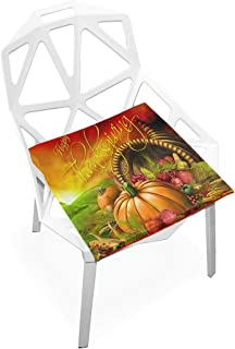 Pingshoes Seat Cushion Stylish Thanksgiving Card Chair Cushion Offices Butt Chair Pads Square Car Mat for Outdoors