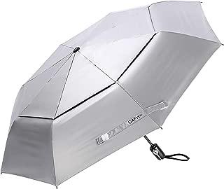 G4Free UPF 50+ UV Protection Travel Umbrella - 42/46 Inch Windproof Silver Coating Sun Blocking Umbrella
