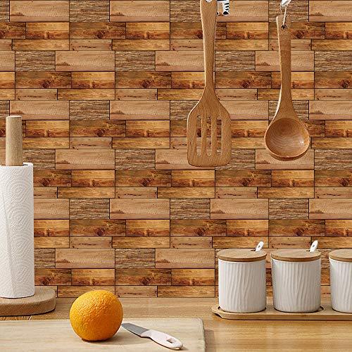 Pegatinas tridimensionales 3D para pared, estilo moderno, decoración de rayas, salón, dormitorio, ladrillo, 15 cm x 30 cm, 24 unidades