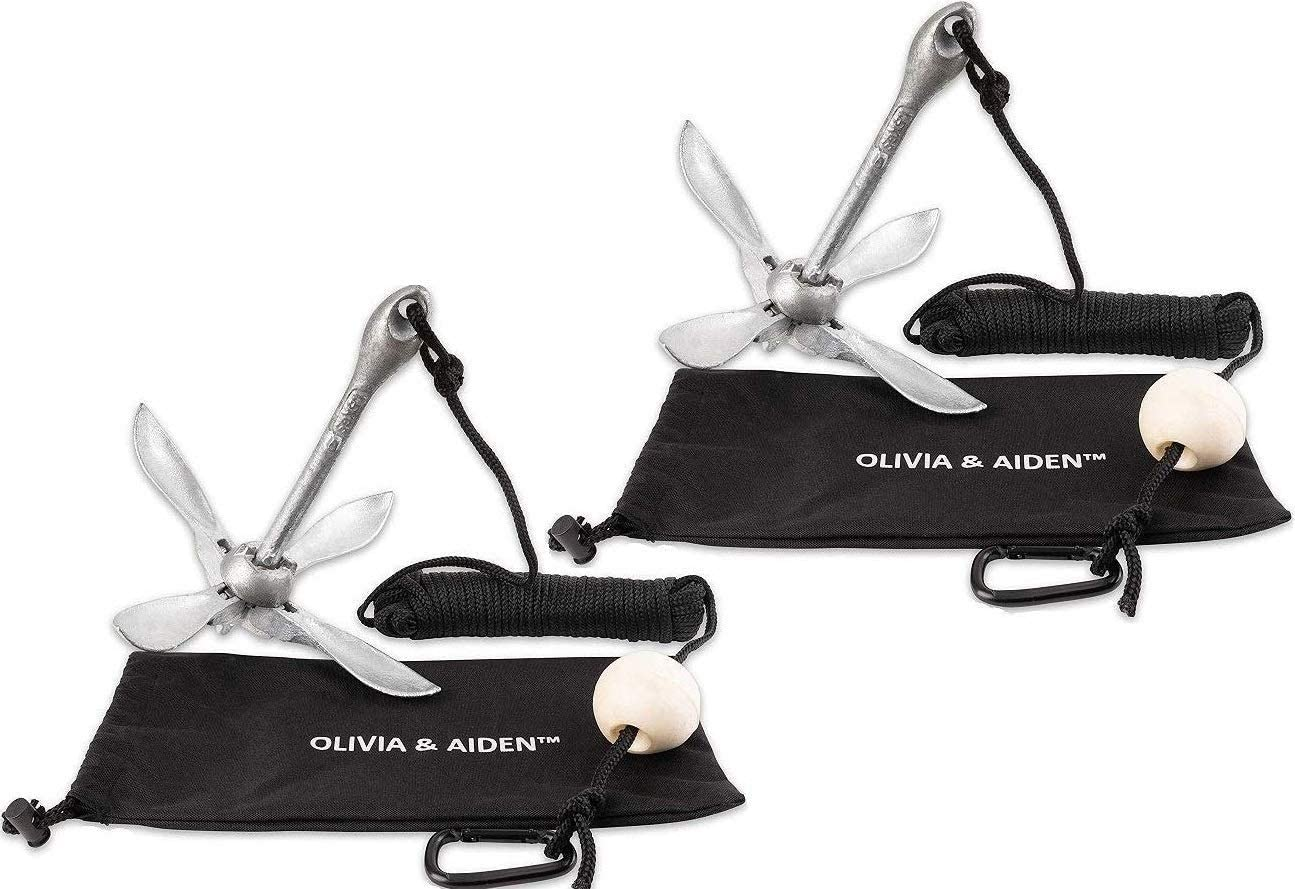 OLIVIA AIDEN 2 Pack Grapnel Baltimore Mall Anchor with 40ft Cheap mail order specialty store Mari 3.5 Kit lb