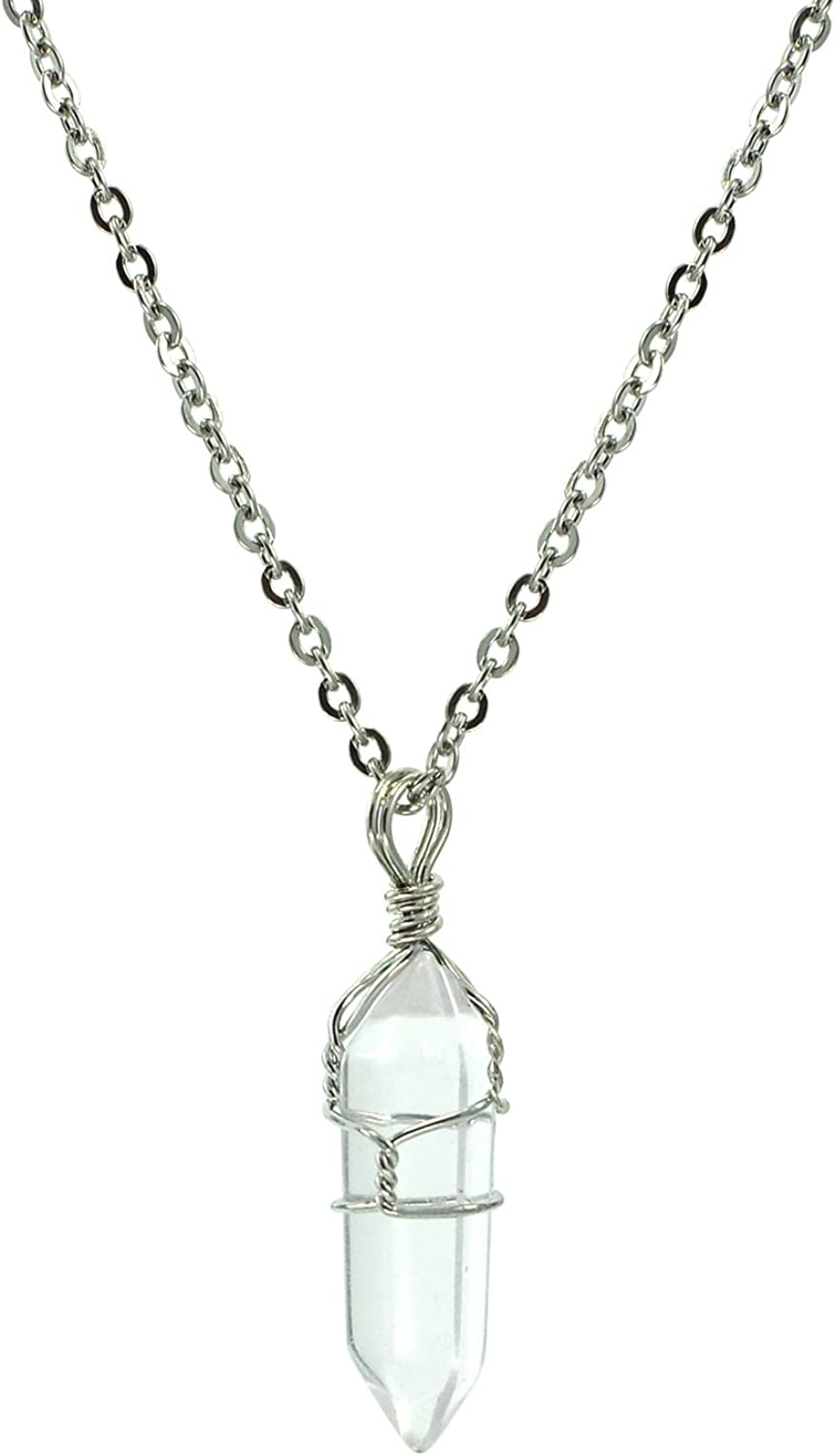 2021 autumn and winter new Paialco Jewelry Tucson Mall Hand Wired Natural Point Quartz Crystal Healing