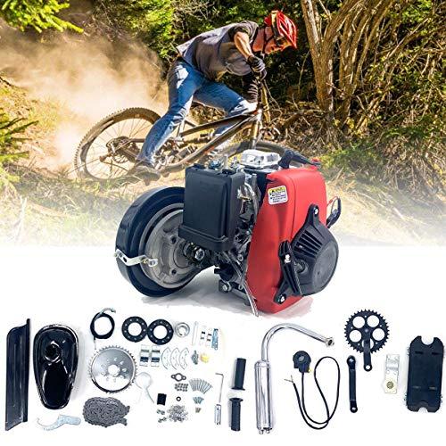 Cozyel 4 Tempi 49cc Kit Motore di Conversione per Bici, Kit motore bicicletta 49CC, kit motore motore a benzina a benzina a 4 tempi per modifica motorizzata bici da bicicletta