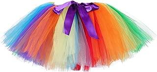 Tutu Dreams 80s Rainbow Tutu Skirt for Women Vintage Ballet Ballerina Adult Clown Costume