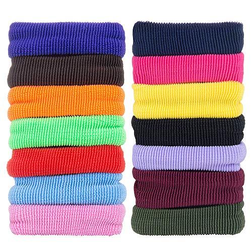 50 Stück Haarband Mädchen Haargummis – ZWOOS Großes Stirnband Nichtmetall Elastisch Haargummis Zopfband für Dicke Schwere Lange und Lockige Haare
