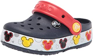 Crocs Unisex-Child Kids' Crocband Fun Lab Light Up Clog | Mickey Mouse Shoes