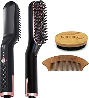 ProCare X Beard Straightener Comb - Multifunctional Ceramic Non-Stick Heated Hair And Beard Brush Straightener Comb For Ma...
