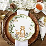 Kate Aspen Woodland Baby Shower, 9 Inch, 9 in. Decorative Premium Paper Plates (Set of 16)
