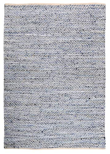 The Rug Republic Tapis Atlas Blanc/Bleu
