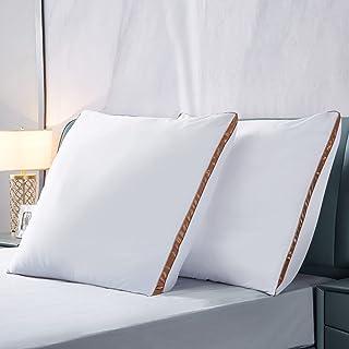 IMISSYUO Lot de 2 oreillers de luxe 80 x 80 cm en microfibre pour personnes allergiques Lavable