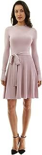 PattyBoutik Women窶冱 Mock Neck Fit-and-Flare Knit Sweater Dress