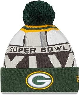 New Era Green Bay Packers NFL Super Bowl XLV Logo Cuffed Knit Hat