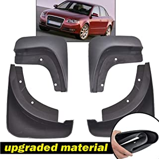 XUKEY Auto Molded Splash Guards for Audi A4 (B7) Sedan 05~08 Mud Flaps - Front & Rear 4 Pieces Set