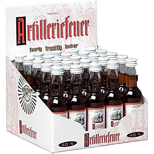 24 Flaschen Artilleriefeuer 40% Vol. a 0,04L Frucht Bitter Likör