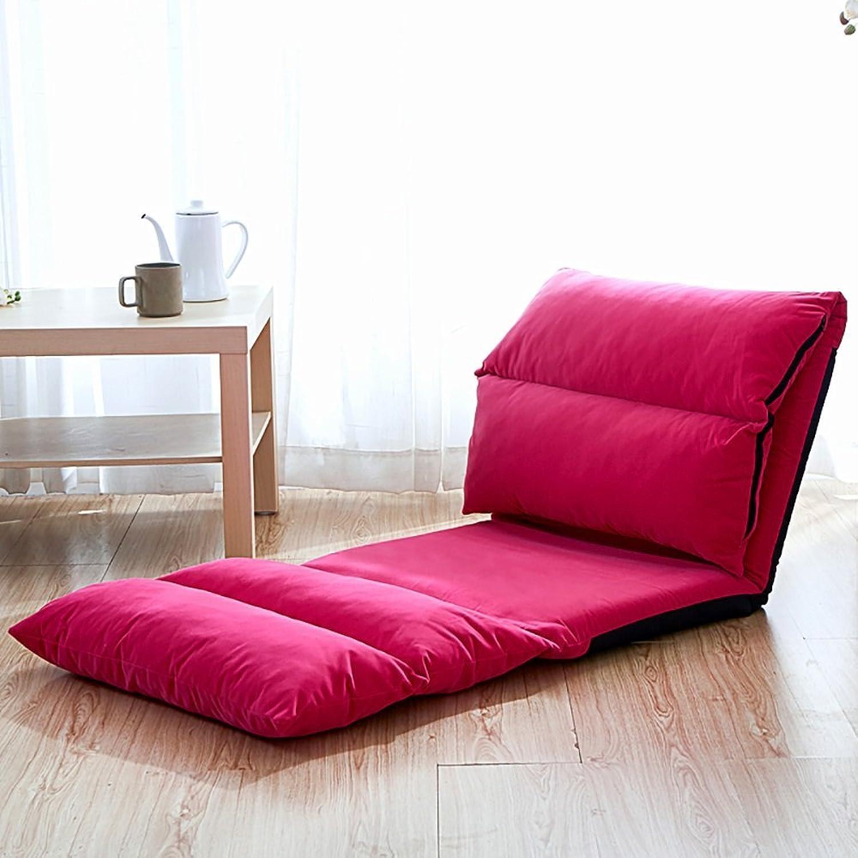 High-Back Chair, Lazy Sofa Foldable Single Rectangle Backrest Sofa (color   12 )